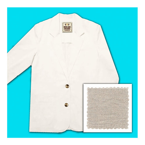 Womens Linen Jacket - Natural