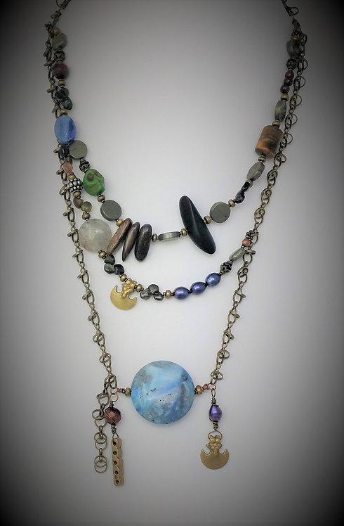 Blue Jean Necklace