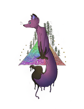 Purple Fox Art Print.png