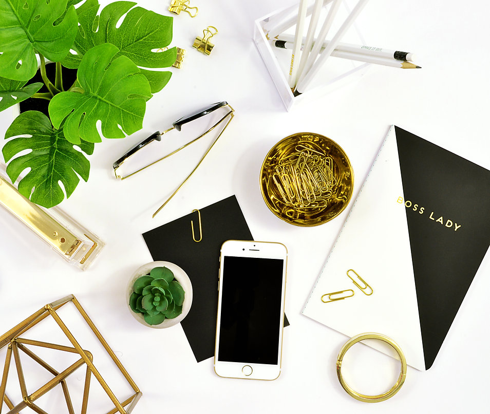 Black-and-white-gold-modern-flat-lay-des