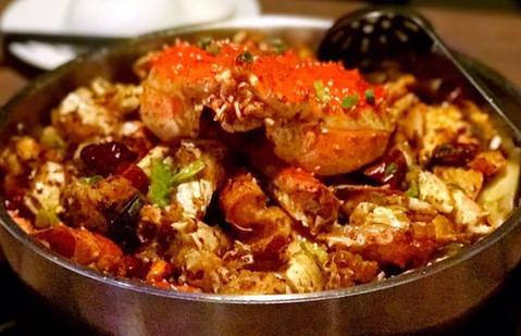 Spicy crab hotpot
