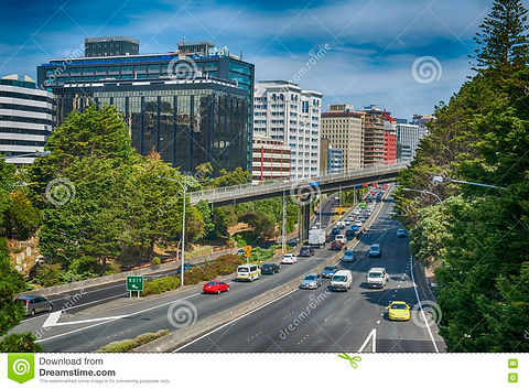 view-wellington-urban-motorway-new-zeala