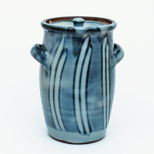Woodfired Stoneware Canister Jar