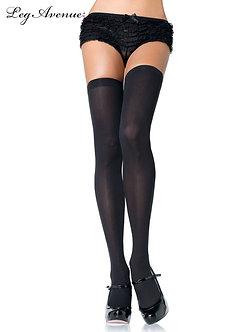 Leg Avenue - Opaque Nylon Thigh Highs