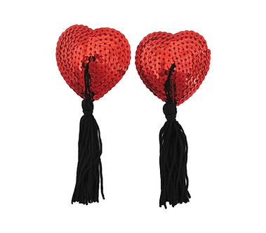 Heart Sequin Nipple Tassels