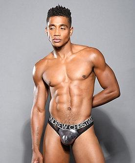 Andrew Christian - Gunmetal Sheer Thong w/ Almost Naked
