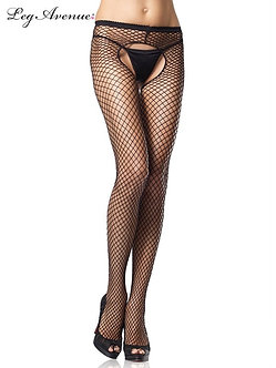 Leg Avenue - Industrial Net Crotchless Pantyhose