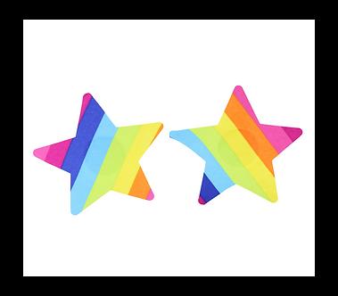 Rainbow Star Nipple Pasties