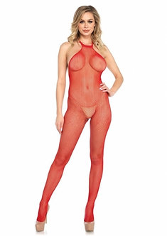 Fishnet Seamless Halter Bodystocking