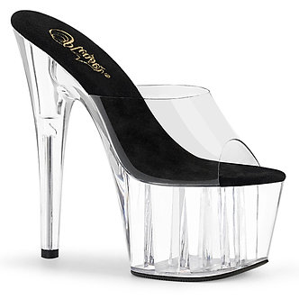 Pleaser - Adore 701 Clear - Black/Clear