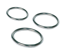 Love In Leather - Metal Cock Ring Set