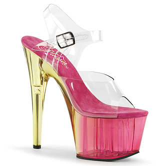 Pleaser - Adore Clear/Pink Tinted
