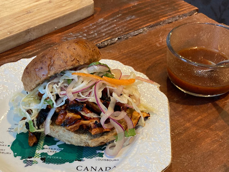 Barbecue Shredded Chicken (of the Woods) Sammy