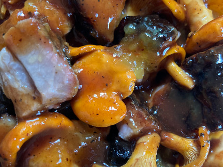 Smoked Pork Belly and Chanterelles