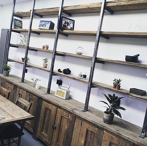Bespoke, rustic, reclaimed Industrial style shelving, Prices from £340.00