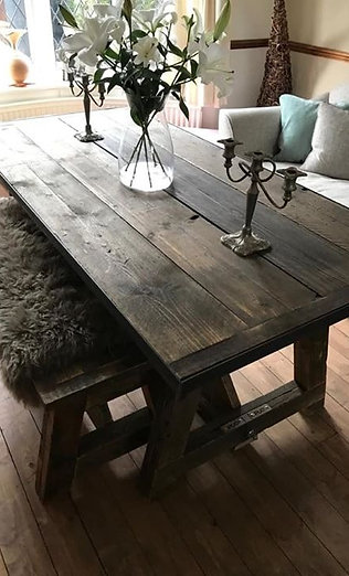 A Framed Industrial Style Dining Table, Prices from