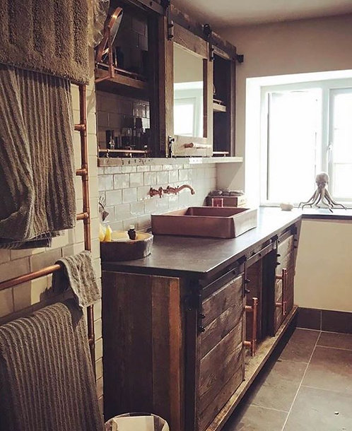 Bespoke industrial style bathroom furniture - prices start from
