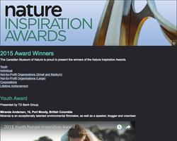 2015 Youth Nature Inspiration Award
