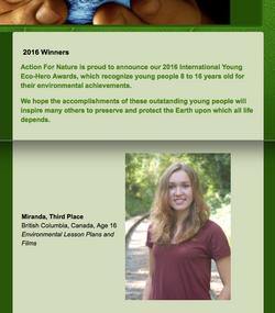 International Young Eco-Hero Award