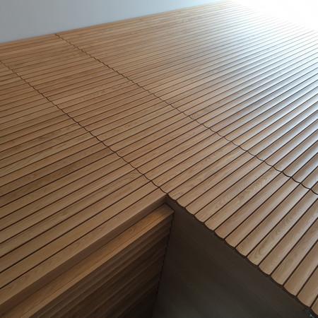 Fluted Oak Feature Wall