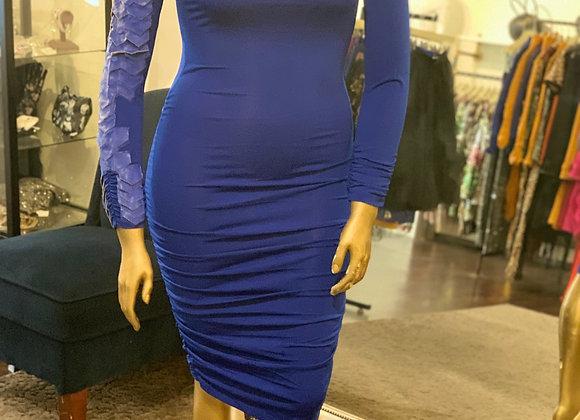Snake Sleeve BodyCon Dress