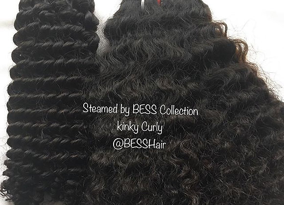 "12""-22"" Steamed by BESS Collection.. Kinky Curly"