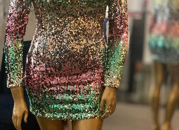 Rainbow glitter mini