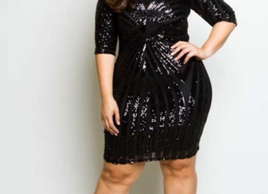 Shelia Sequin Dress (Black)