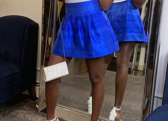 Bandage Flare Mini Skirt