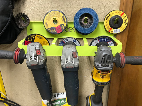 """4.5"""" Angle Grinder Tool Rack and Storage- Updated Design!"""