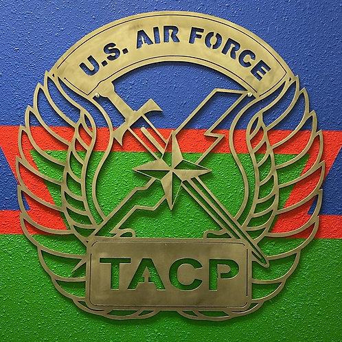 DES Air Force TACP Crest - Tactical Air Control Party Metal Sign Art
