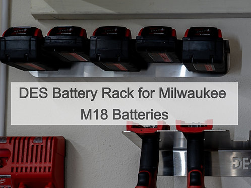 DES Battery Rack for Cordless Tools