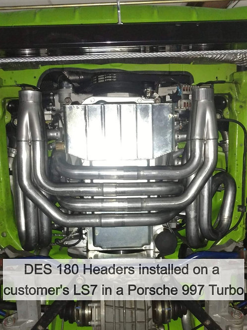 DES 180 Degree Headers for LS based engines - Porsche 996 and 997 and Universal