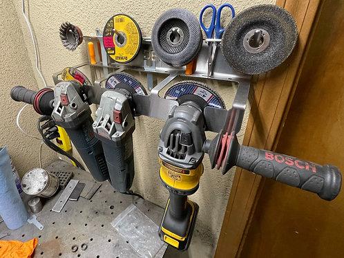 "DES 4.5"" Angle Grinder Tool Rack and Storage - Updated Design!"