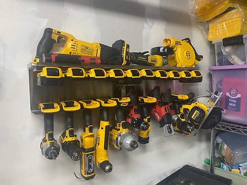 DES Cordless Tool Storage Combo Rack - Organize Tools, Batteries, Chargers!
