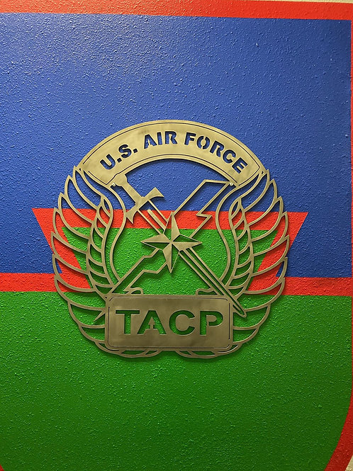 DES Air Force TACP Crest - Tactical Air Control Party Metal Sign Art