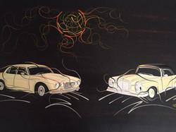 Jaguar und Mercedes