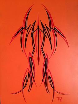 Pinstriping orange