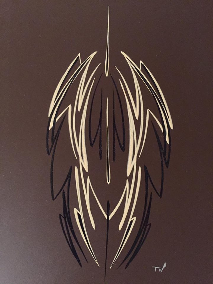Pinstriping braun