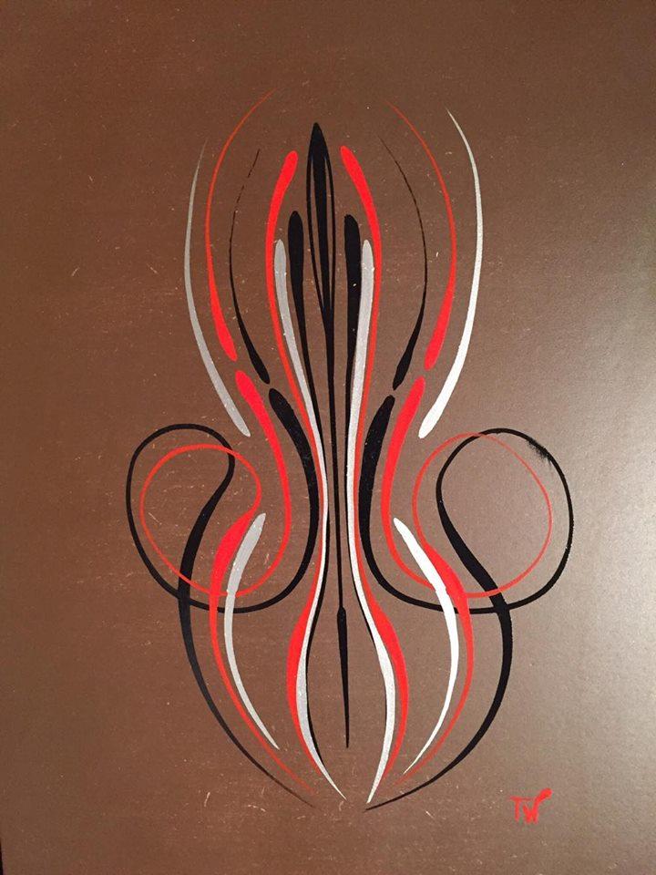 Pinstriping silber