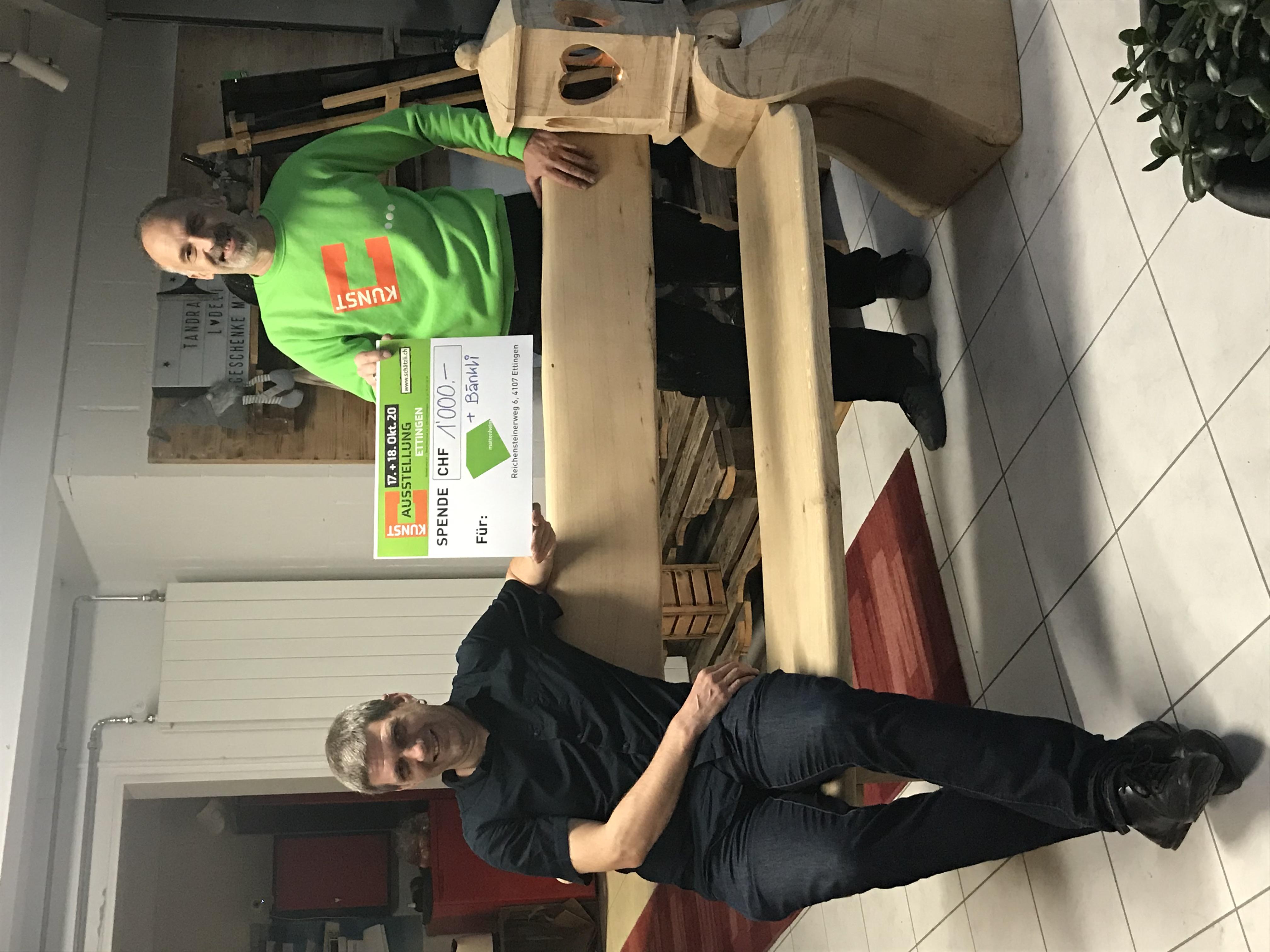 Spendenübergabe an das Mattenheim