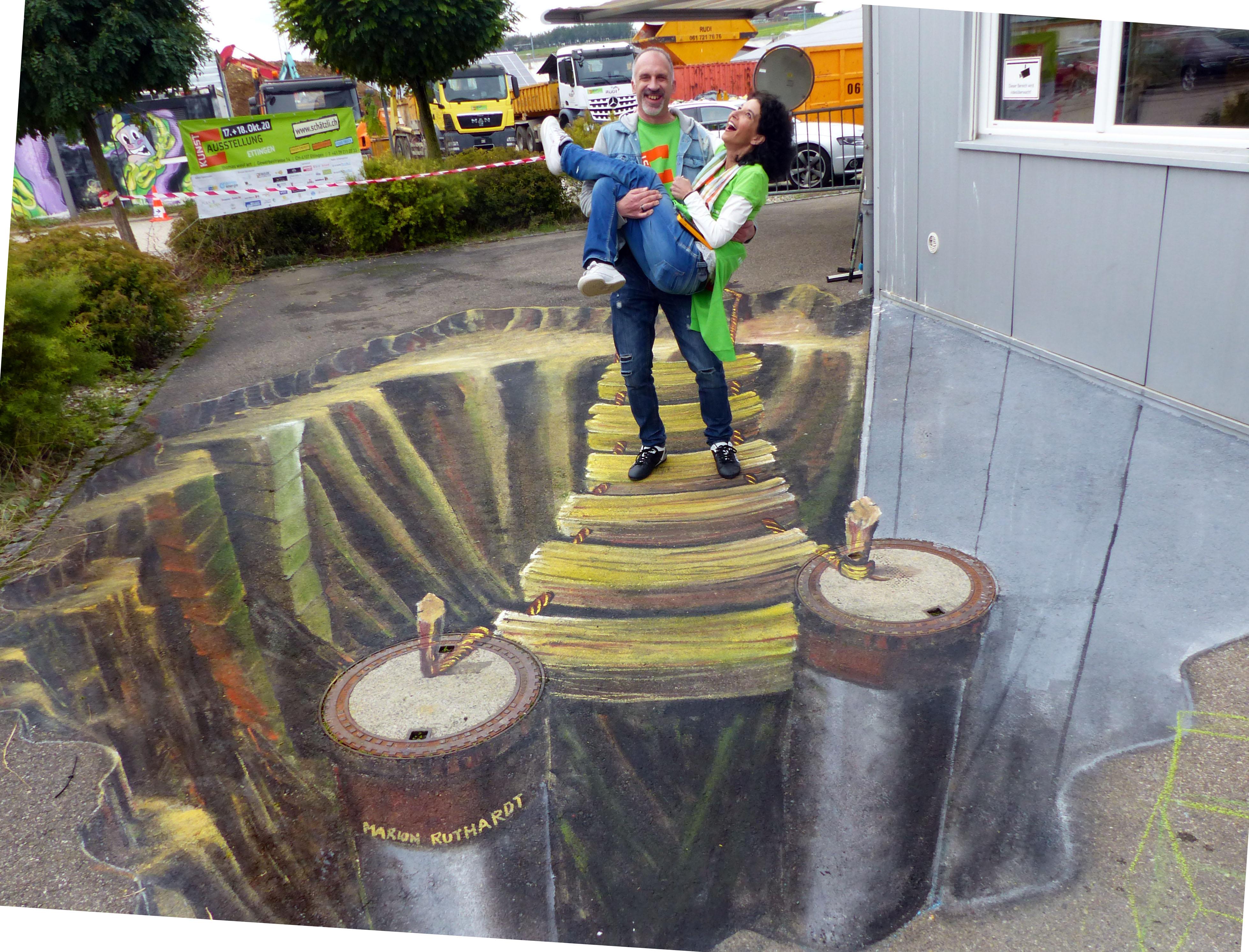 Sandra & Thomas die Initiaten dieser Ausstellung
