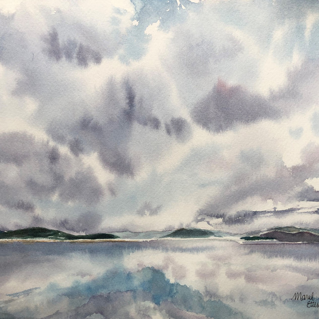 Cloudy Lake Champlain