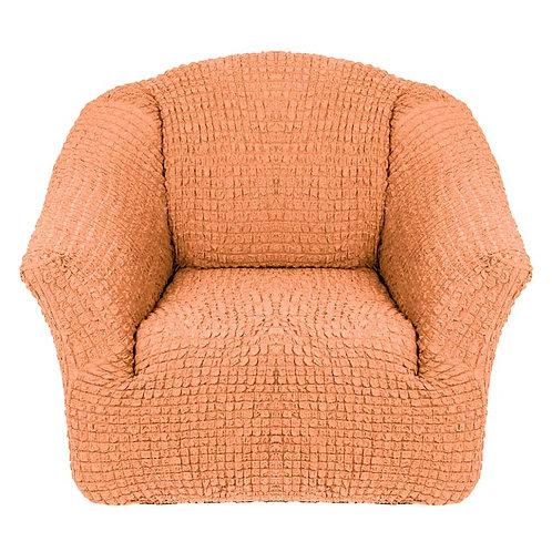 На кресло без оборки. Цвет: оранжевый