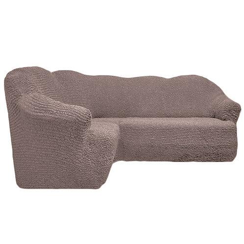 На угловой диван без оборки. Цвет: какао