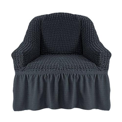 На кресло с оборкой. Цвет: антрацит