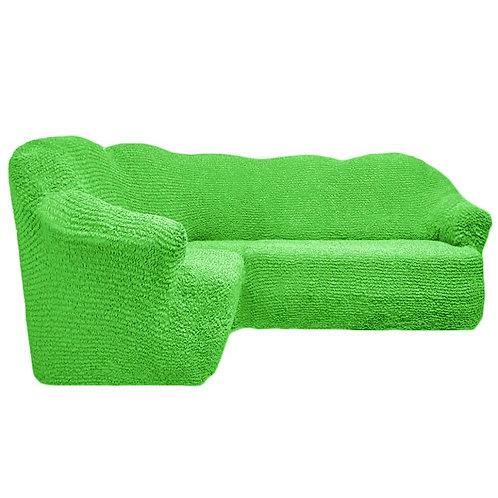 На угловой диван без оборки. Цвет: салатовый