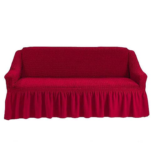 На диван с оборкой. Цвет: бордовый