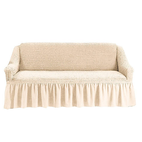 На 4-х местный диван. Цвет: кремовый