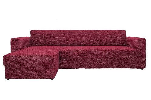 На диван с оттоманкой. Цвет: бордовый.